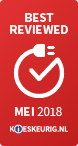 Best Reviewed mei 2018