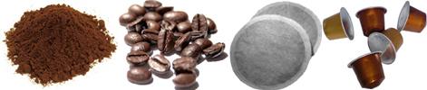 gemalen koffie bonen-koffiebonen-koffiepads-capsules